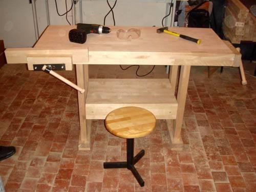Как сделать столярный стол из дерева