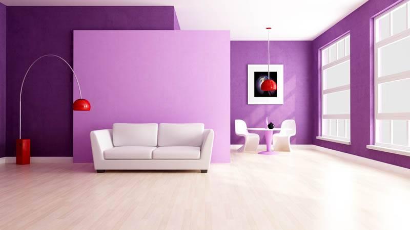 С помощью краски можно создать интерьеры разного цвета