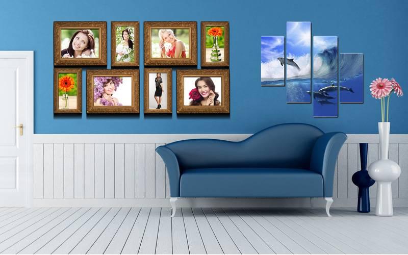В рамках можно разместить и красивые фотографии
