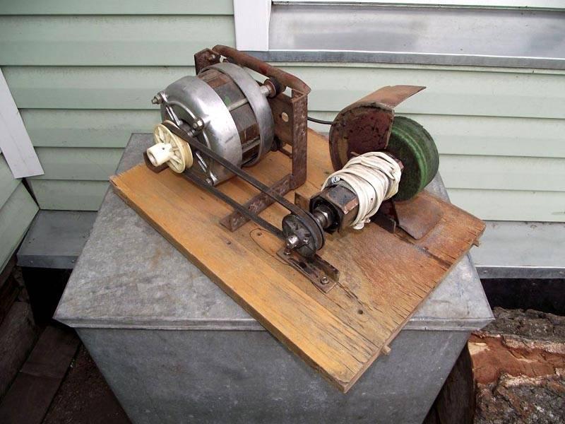 Самодельный точильный станок из мотора стиральной машины