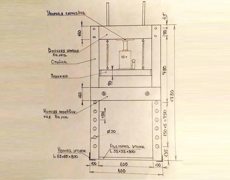С описанием элементов