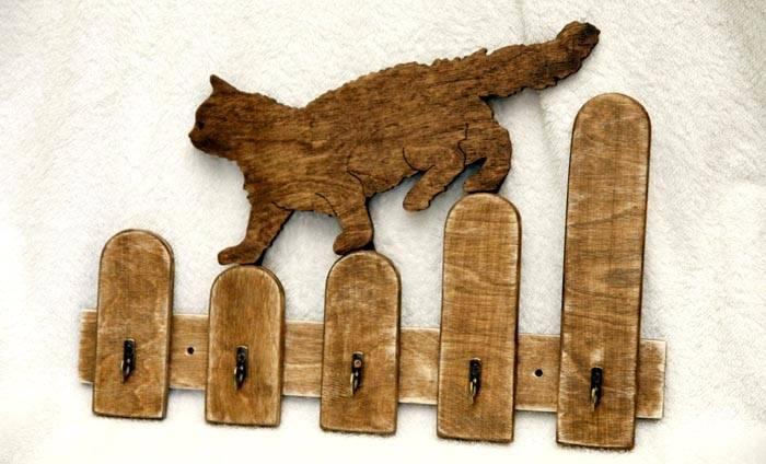Ключница настенная из дерева своими руками и