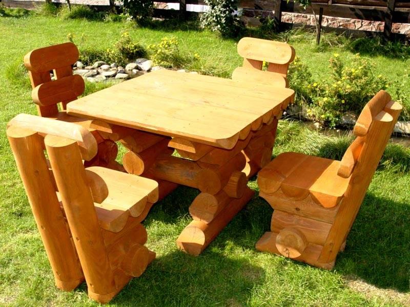 Фото дачной мебели из дерева своими руками