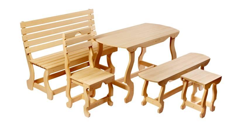Такой комплект мебели для бани можно сделать своими руками