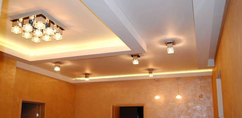 Пример многоуровневого потолка