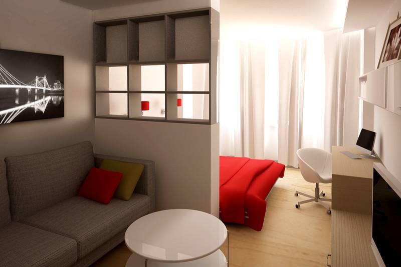 Простой дизайн для обычной квартиры (гостиная, спальня, кабинет)