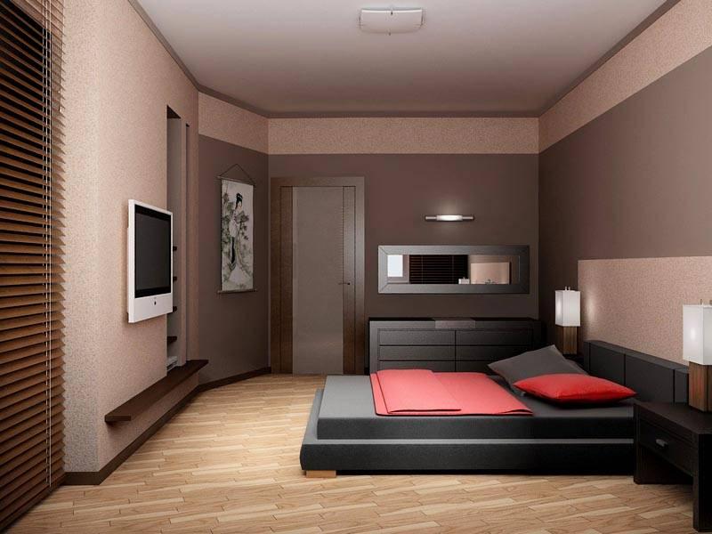 Модель узкой спальни