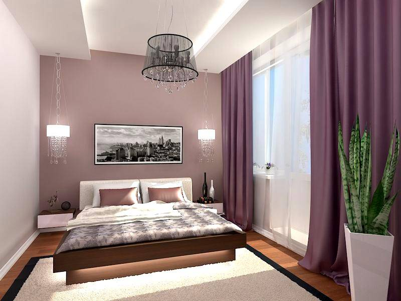 Как оформить спальню 16 квадратов