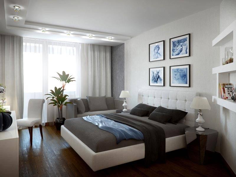Строгая мужская спальня