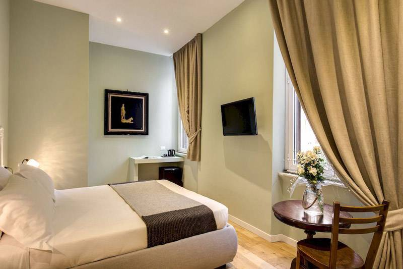 Оформление спальни контрастной цветовой палитрой