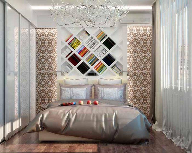 Светлая современная спальня