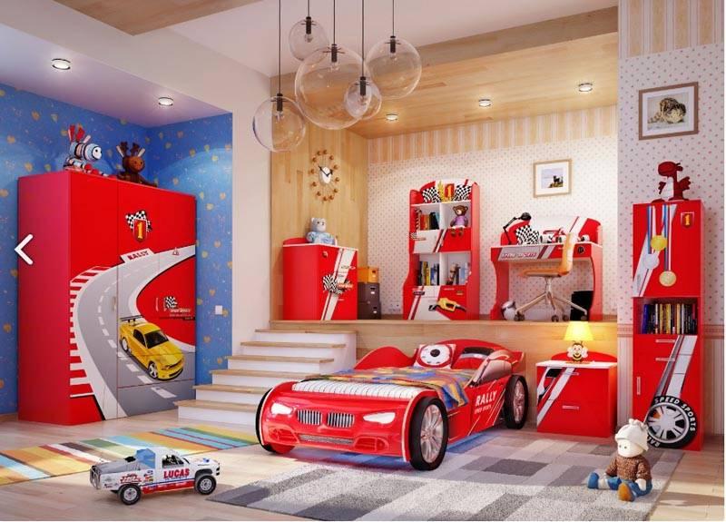 Интересный вариант спальни для мальчика