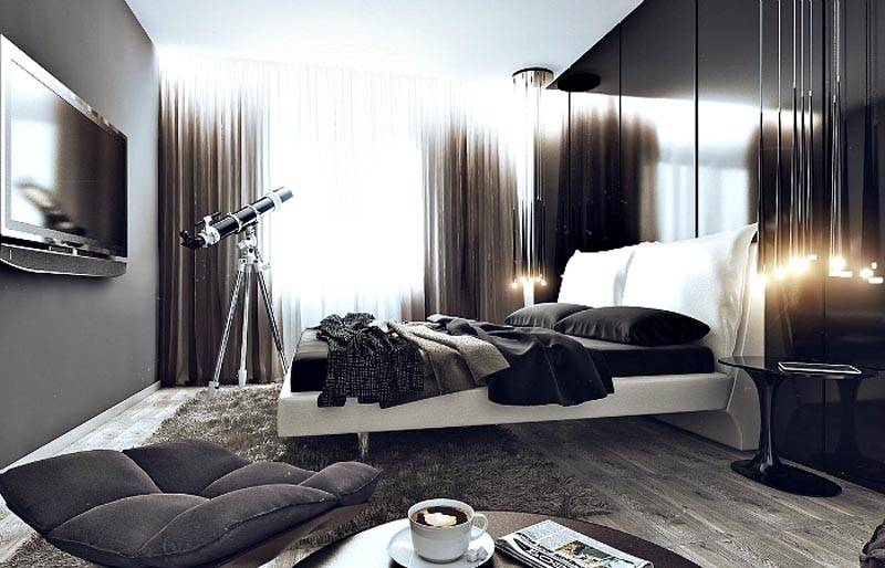 Фото красивой спальни для мужчины