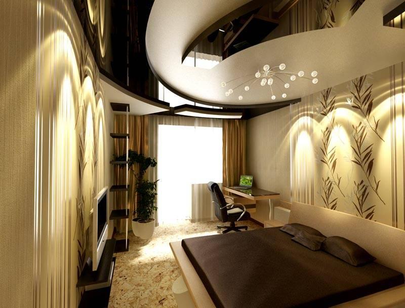Отличный дизайн 6-ти метровой маленькой спальной, фото-идея с зеркальным оформлением