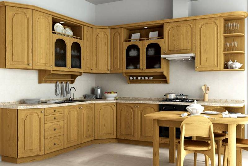 Кухонный гарнитур из мебельных щитов своими руками 33