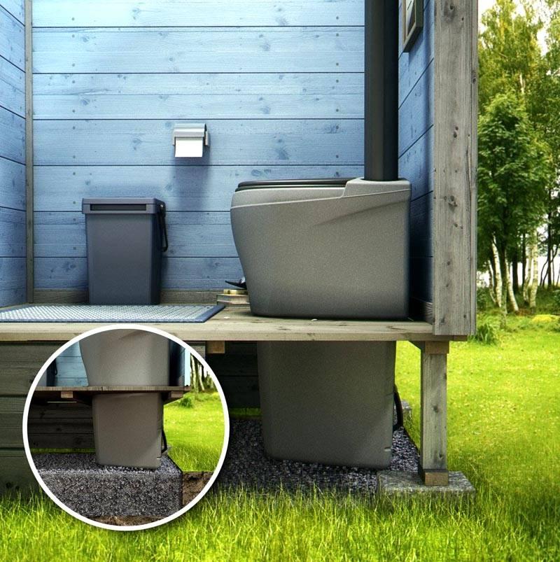 Вариант биотуалета – сбор нечистот производится не в выгребную яму, а в ведро