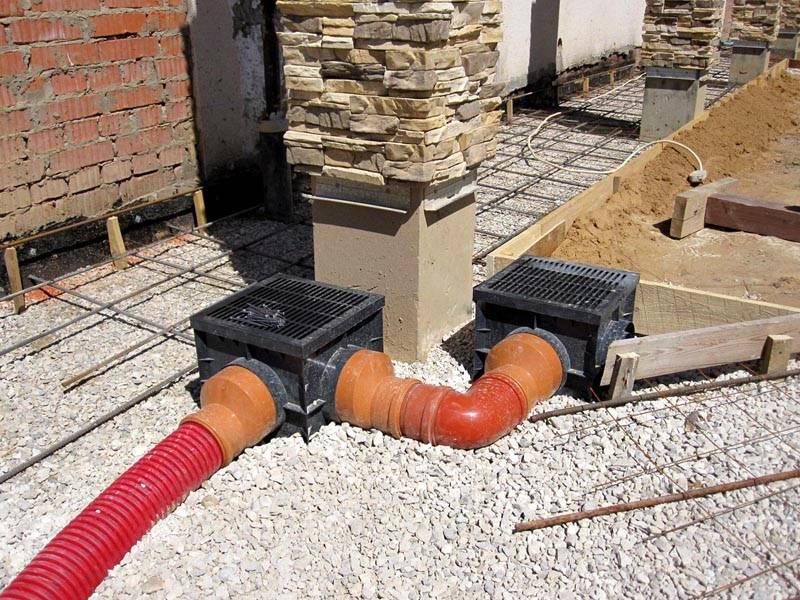 Собранная вода поступает в каналы без перфорации и транспортируется в дренажный резервуар