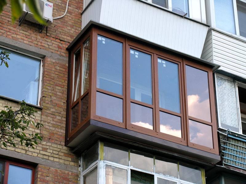 А это внешний вид балкона с улицы