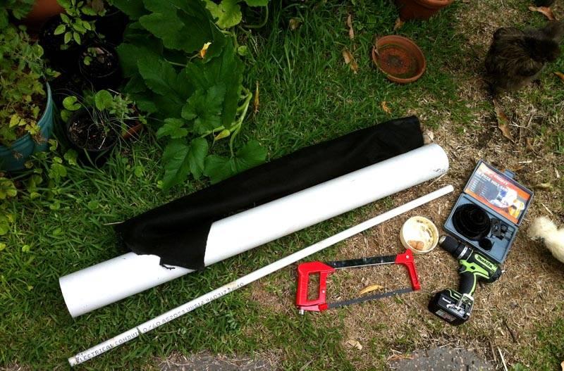 Подготовка к изготовлению грядки из трубы