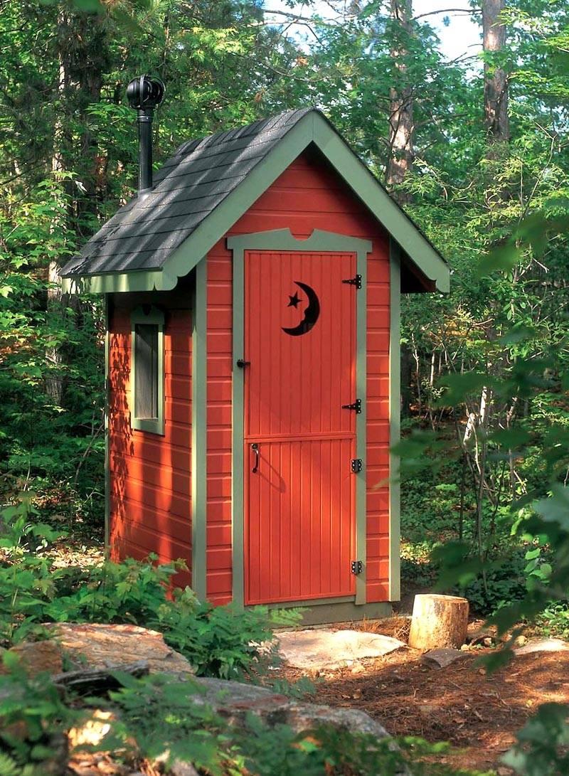 Как сделать красивым туалет на даче