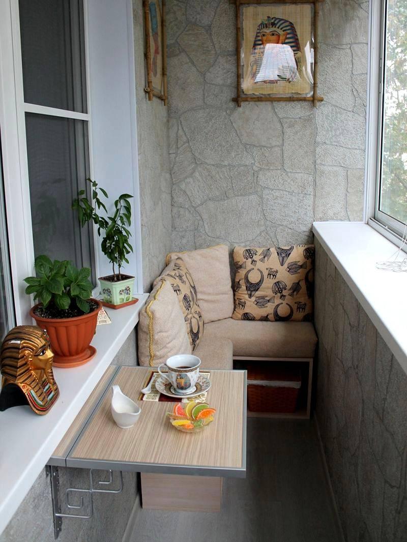 Интерьер балкона в хрущевке фото