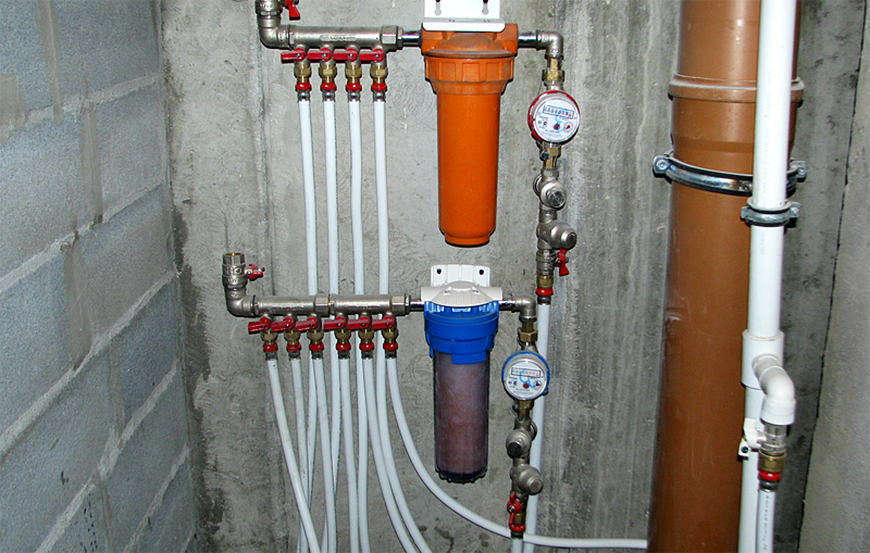 При помощи таких труб монтируется водопровод на бойлер