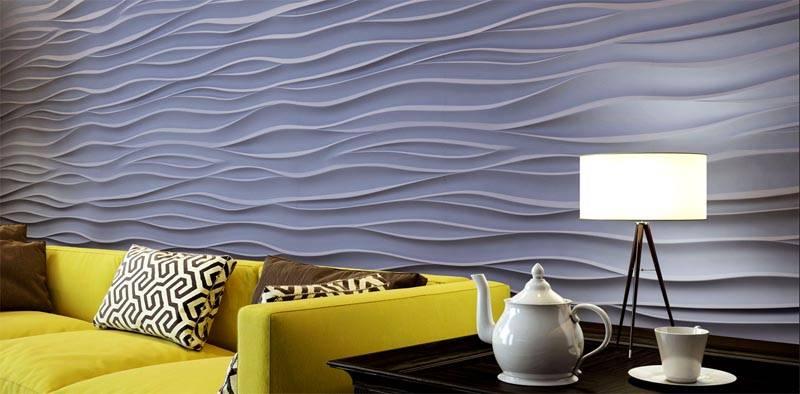 Гипсовые панели способны стать главным украшением комнаты