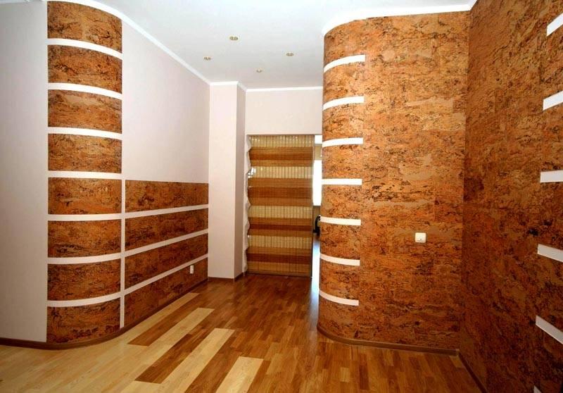 С пробковым облицовочным материалом стены станут теплее
