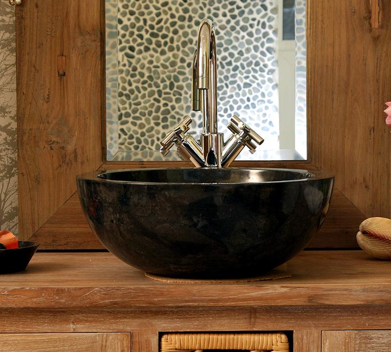 Каменная мойка – стильный элемент интерьера