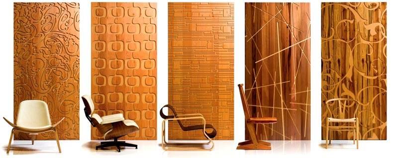 Деревянные панели представлены в большом ассортименте