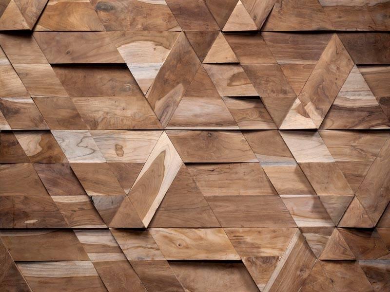 Деревянные панели позволят сформировать любой рисунок