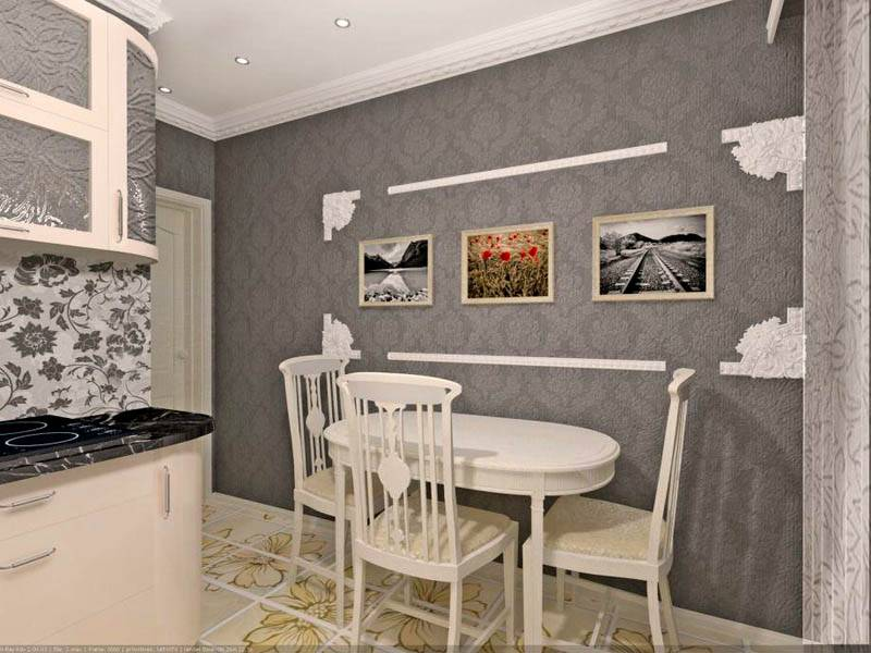 Стулья лучше не ставить спинкой к стене, чтобы сохранить в целостности декоративное покрытие