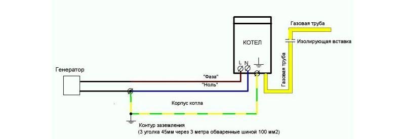 Схема для газового котла
