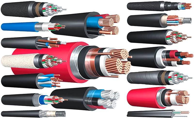 Разные виды кабельной продукции