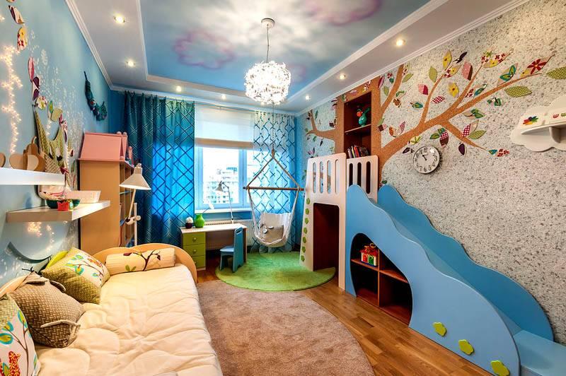 Применение жидких обоев в детской комнате (фото) позволяет создать приятную здоровую атмосферу