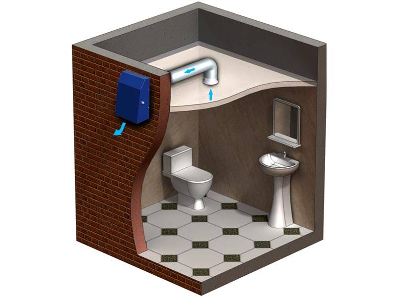 В частном доме можно вывести вытяжную вентиляцию через стену на улицу