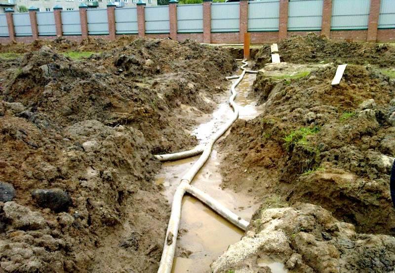 На участке в глубине почвы – устанавливают дополнительную систему. Ее монтируют ниже уровня грунтовых вод