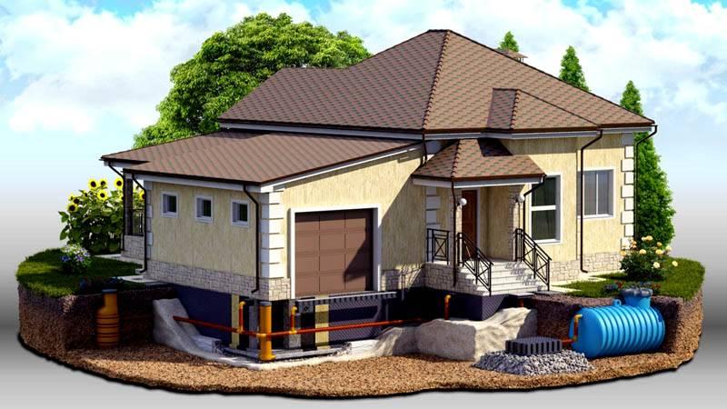 Отдельно защищают строения с применением горизонтальных и вертикальных дренажных элементов