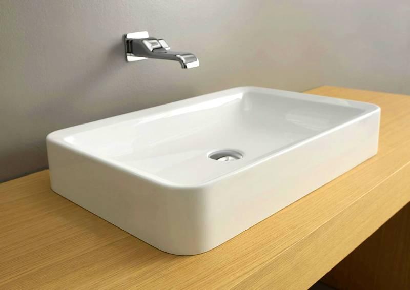 Прямоугольная раковина актуальна для ванной комнаты в любом стиле
