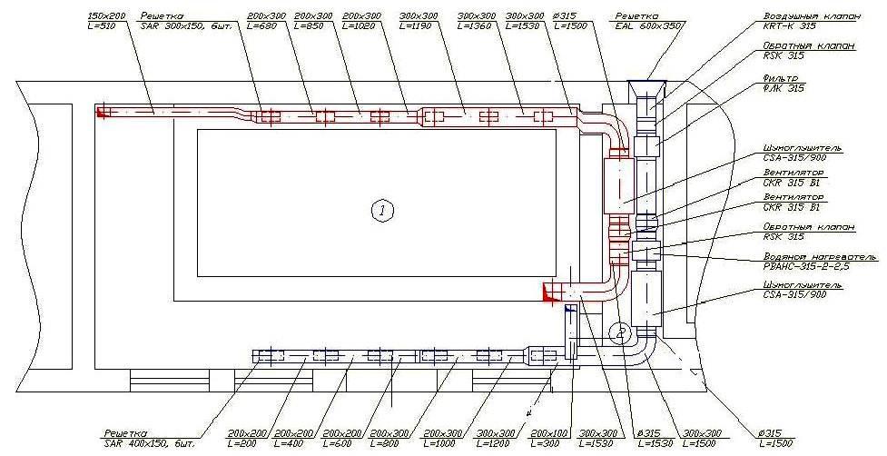 Система вентиляции в частном доме: схема оснащения бассейна