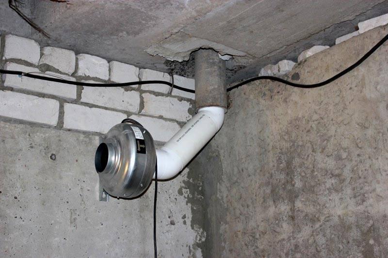 Установка принудительной вентиляции в подвале частного дома