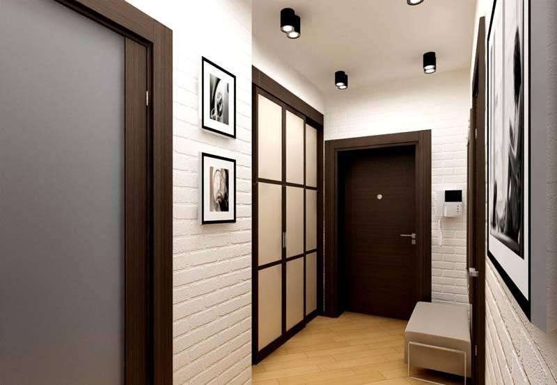 Для узкого коридора стоит выбрать белый материал