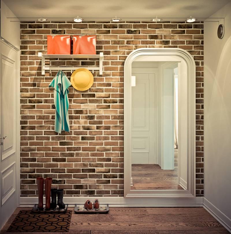 Кирпичная кладка может быть только на одной стене
