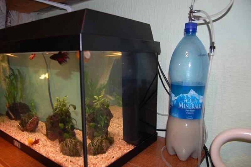 Самый простой вариант насыщения аквариума углекислым газом