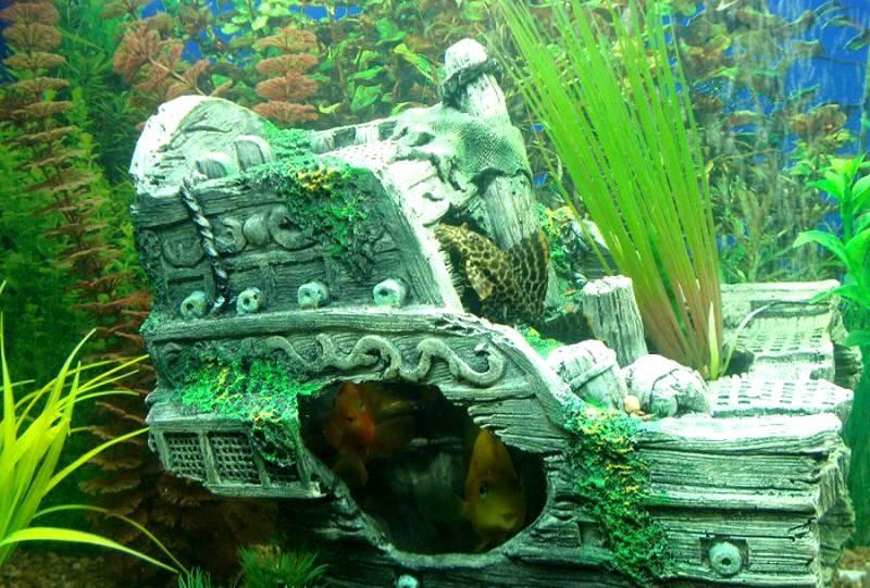 Грот в виде кормы затонувшего пиратского корабля