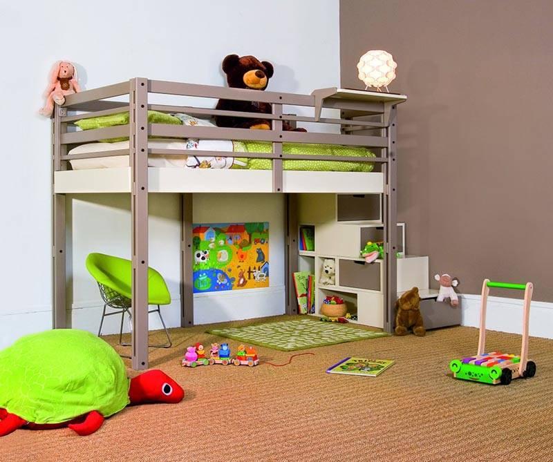 Кровать с игровой площадкой