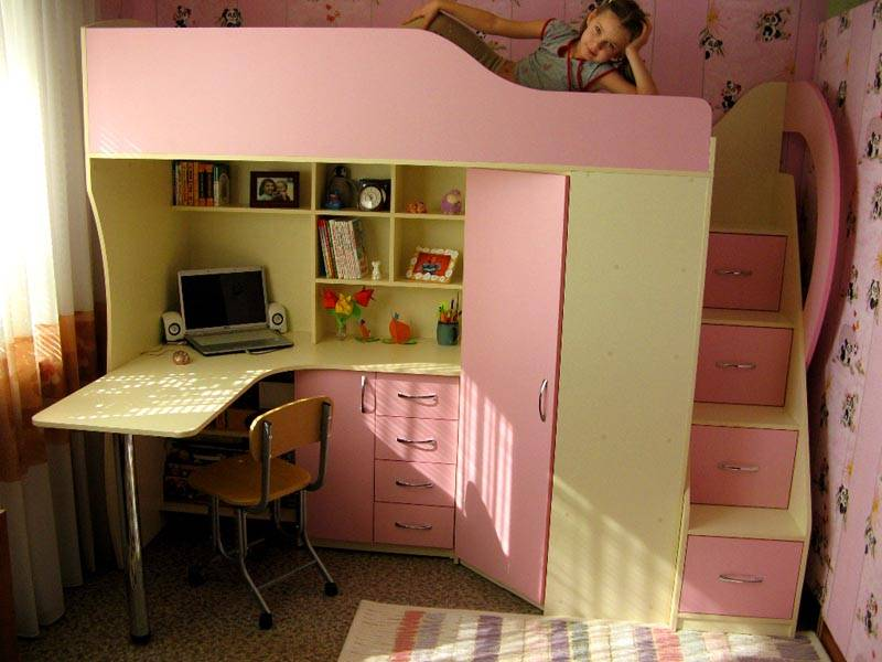 3 в 1: выбираем кровать-чердак с рабочей зоной для подростка