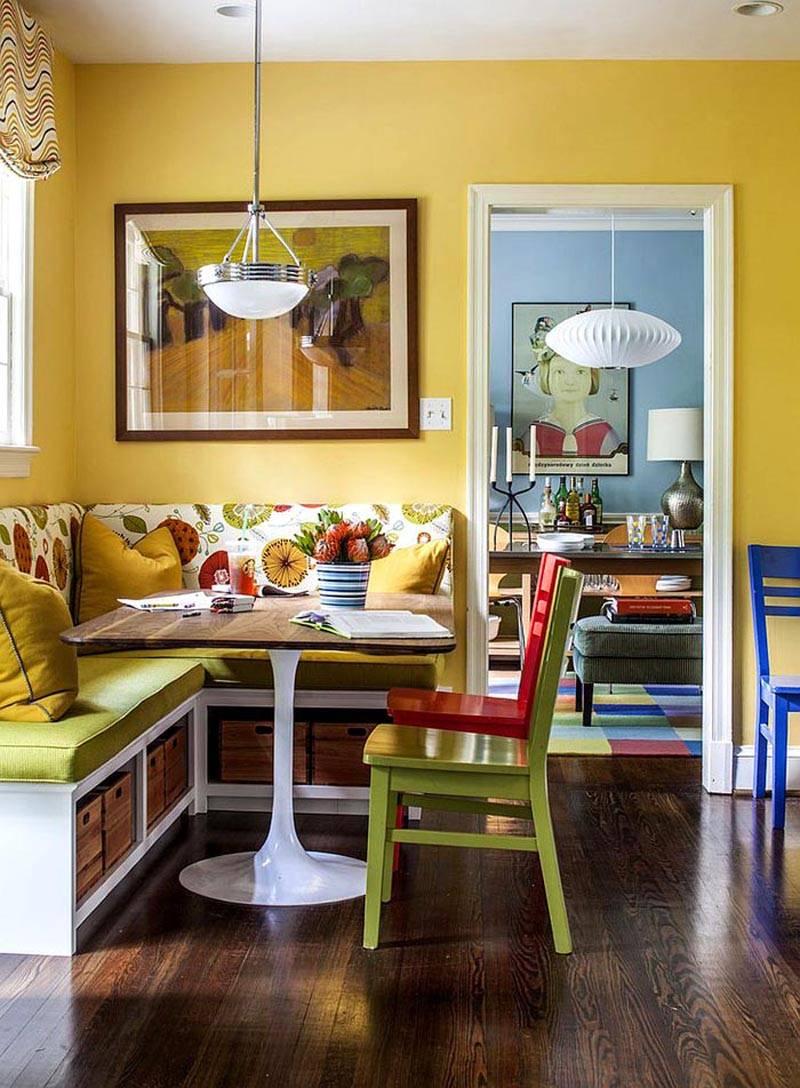 Увеличиваем площадь: кухонный уголок для маленькой кухни – решение бытовых проблем