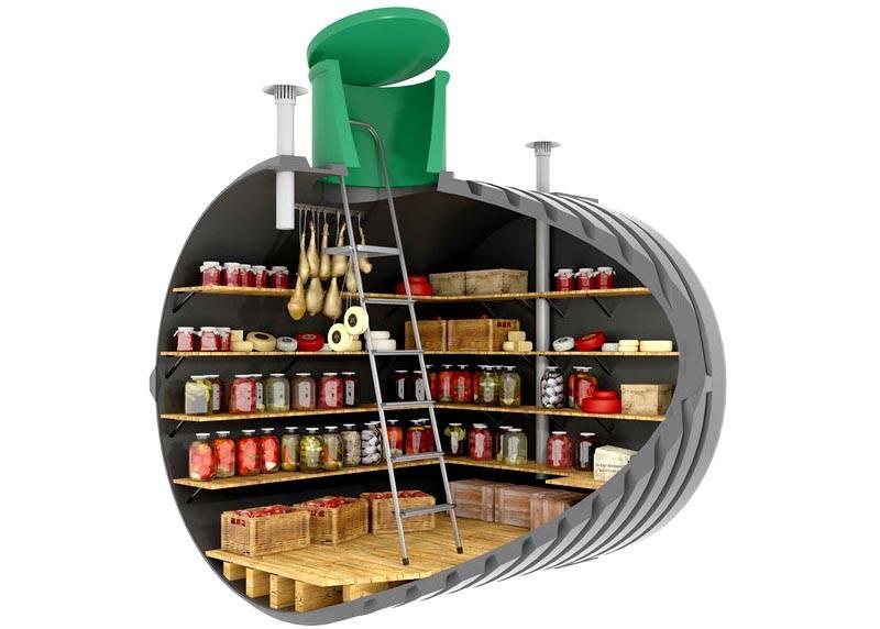 Погреб для хранения продуктов питания – самый распространенный вариант целевого назначения