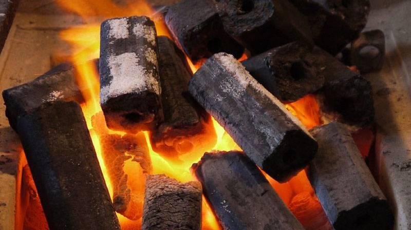 Огонь от брикетов имеет большую температуру, чем от дров